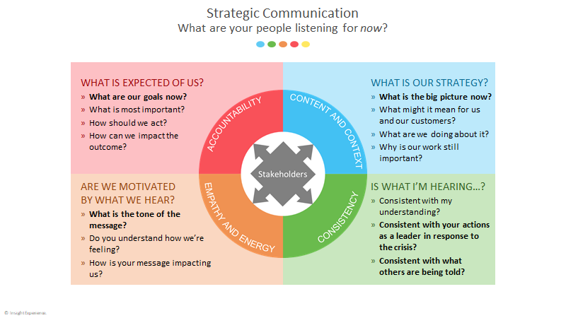 Strategic Communication Model for times of Crisis, Insight Experience